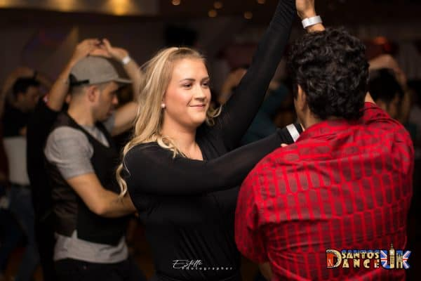 Woman swirls when dancing salsa