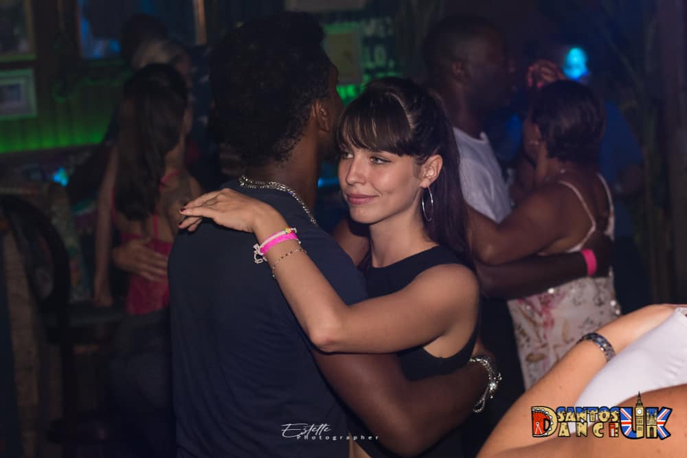 Women smiling when dancing with partner