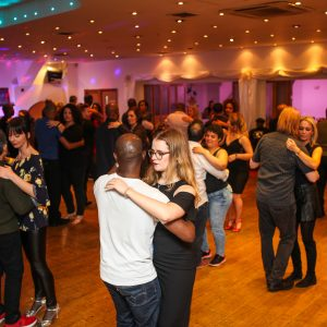 Social dancing at dance school in South London
