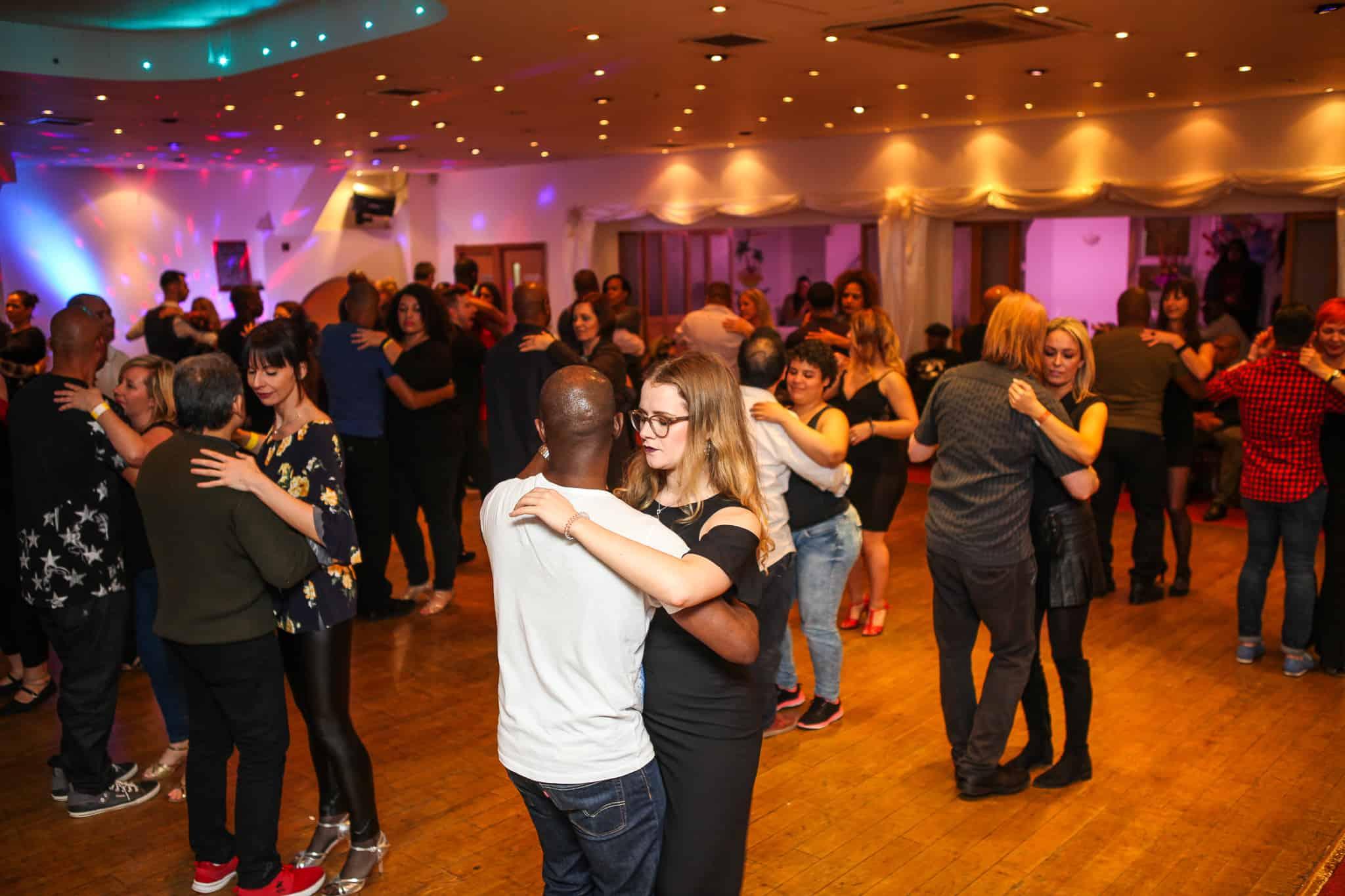 Social dancing at dance school in South London