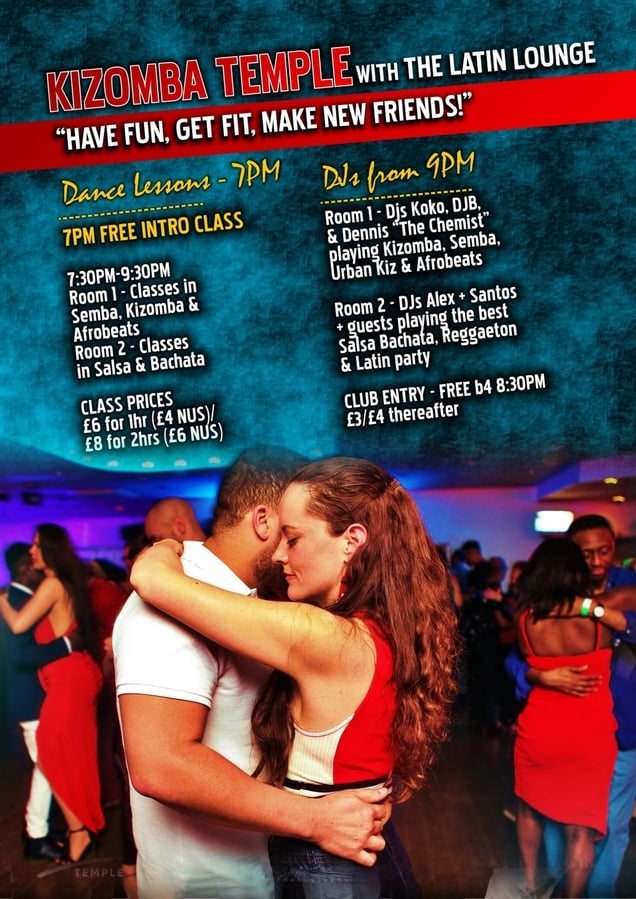 Kizomba Temple with Latin Lounge poster