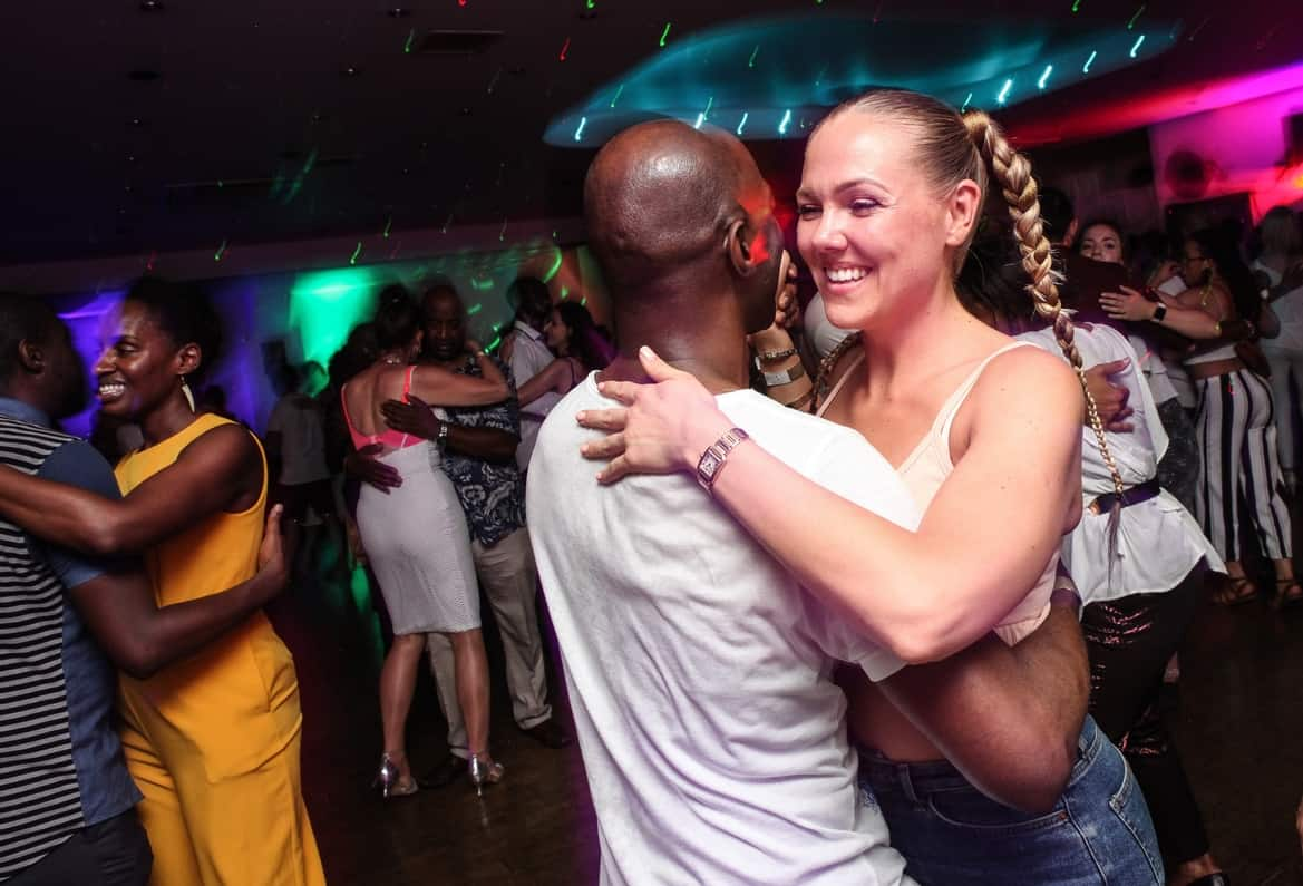 Happy couple dancing Semba